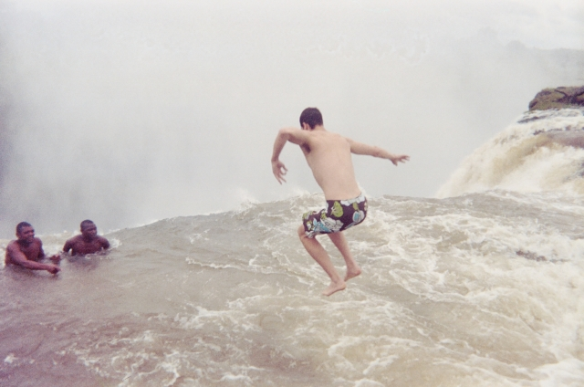 Jumping into the Devil's Pool